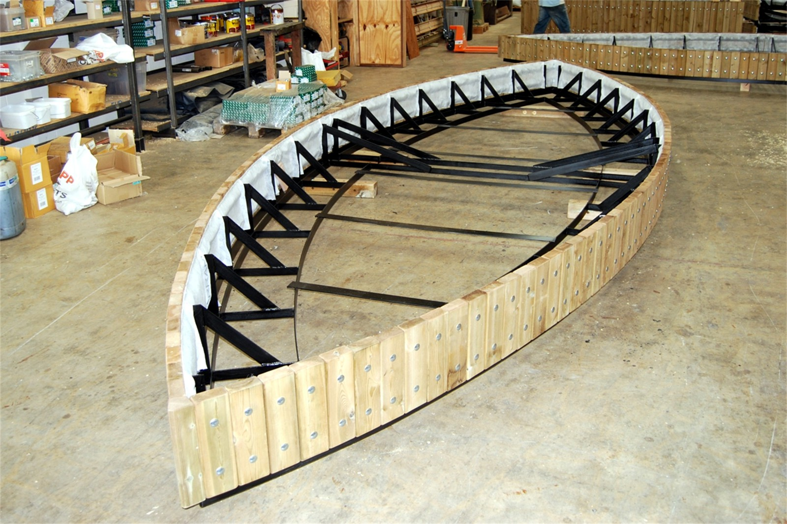 21psw01 - Swithland planter walling in manufacture