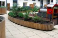 21psw03 - Swithland curved planter walling