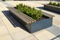 35p08 - Stratum planter with Bexley planter bench