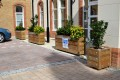 40pgr41 - Grenadier barrier planters with reflective strips