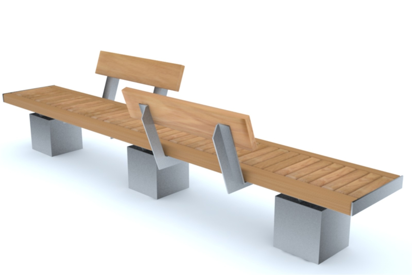 60ssh32 - Sheldon long bench with optional backrests