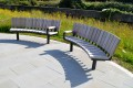 60ssp24 - Spalding curved seats with single armrests