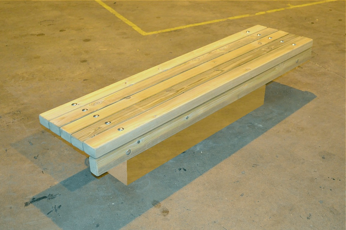 77sba06 - bathgate wall mounted bench in manufacture