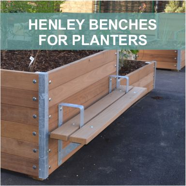 HENLEY PLANTER BENCHES by Street Design