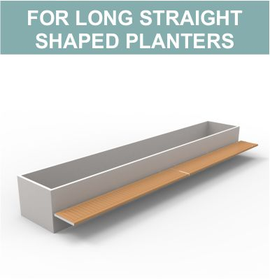 Benches for square planters by Street Design