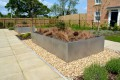 c12410 - New housing development, Beverley, large planters