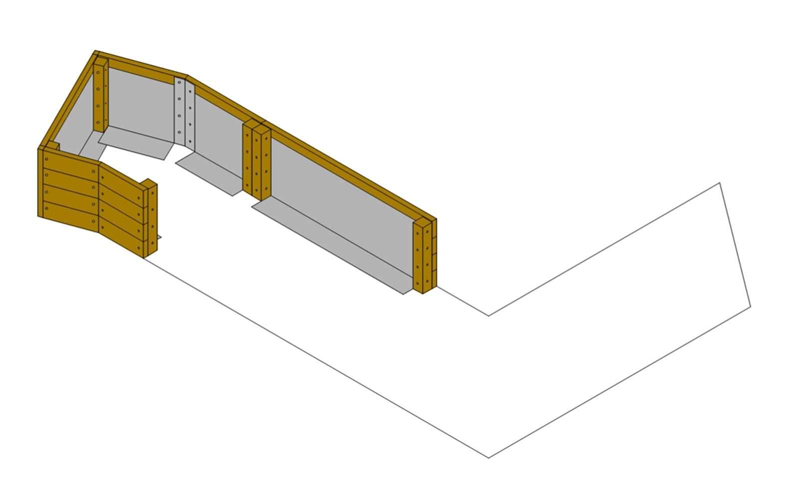Bolt Side Wall Unit to Angled Corner Unit