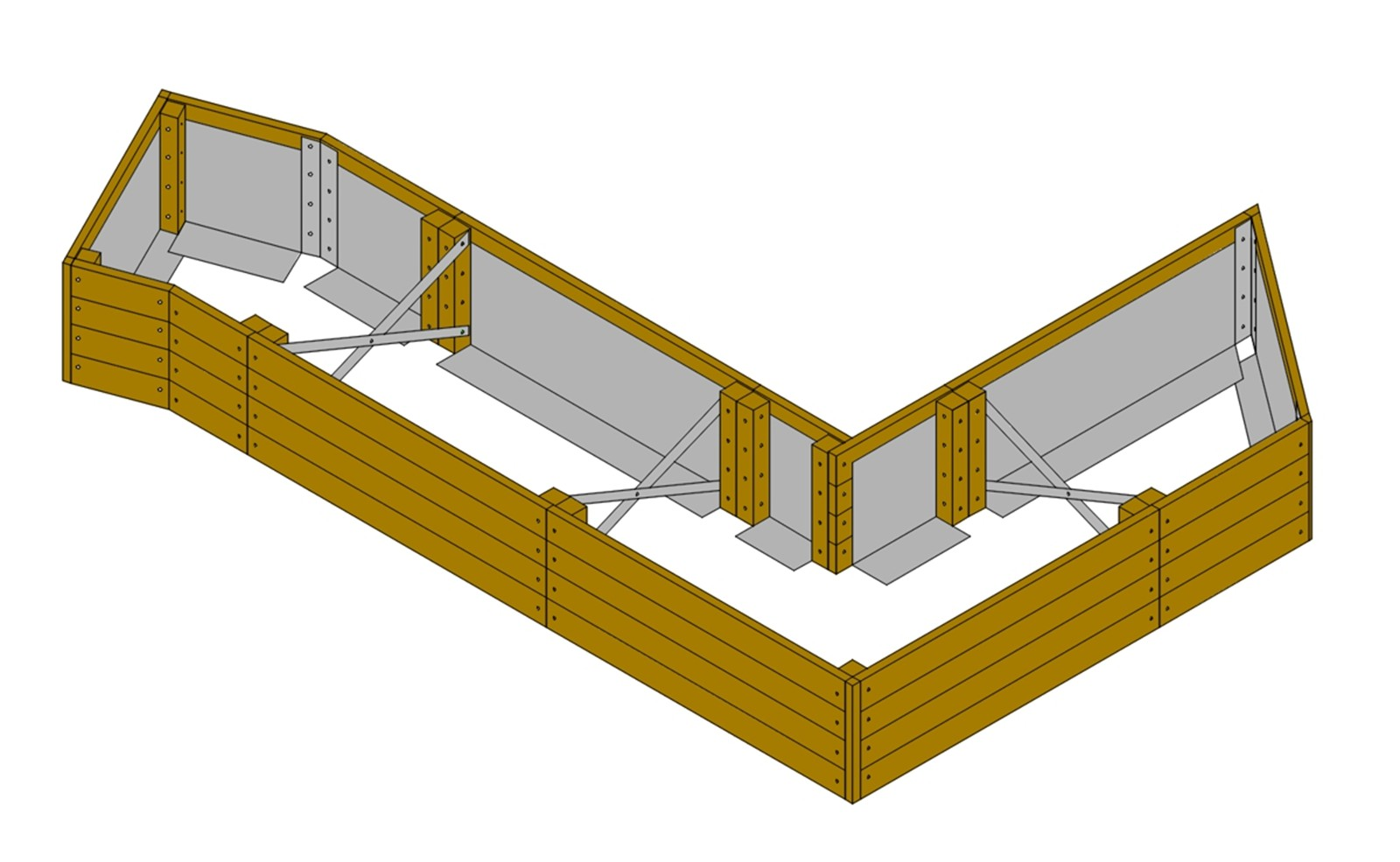 Bolt Angled End Wall to Angled End Side Units