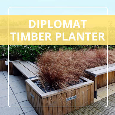 Diplomat Timber Planters y Street Design