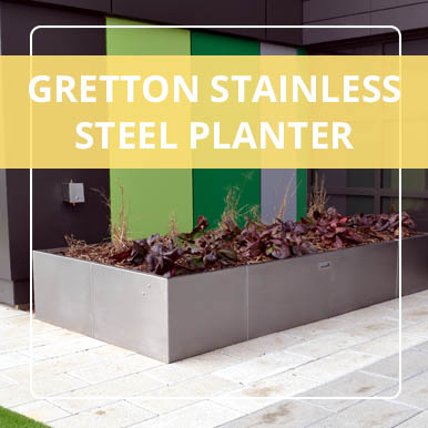 Gretton Stainless Steel Planter by Street Design