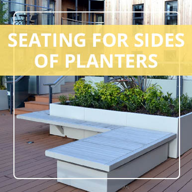 Seating for planter sides by Street Design