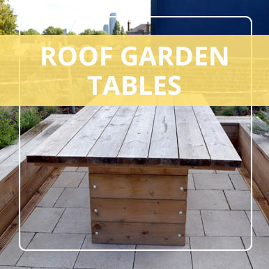 Roof garden tables by Street Design