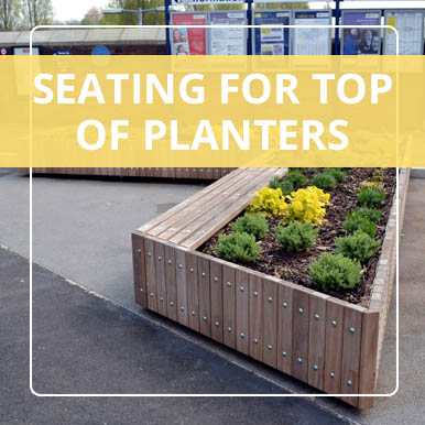 Seating for planter tops by Street Design