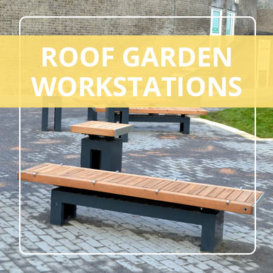 Roof garden workstations by Street Design