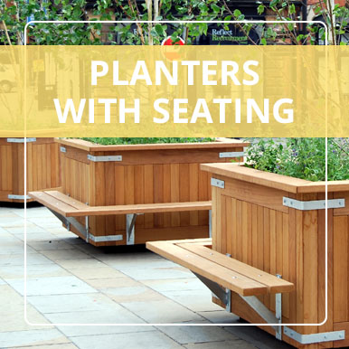 Planters with Seating by Street Design