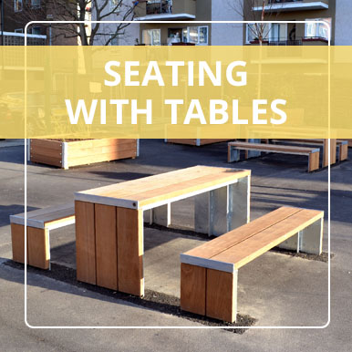 Seating with Tables by Street Design