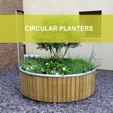 Circular Planters by Street Design