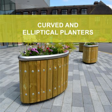 Curved & Ellipictal Planters by Street Design