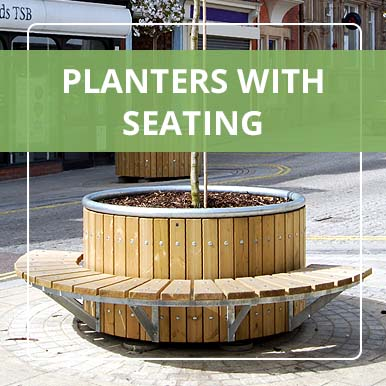 Planters with Seating from Street Design