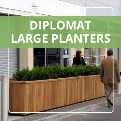 Large Diplomat Planters by Street Design
