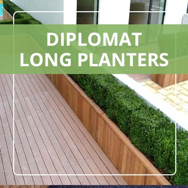 Long Diplomat Planters from Street design