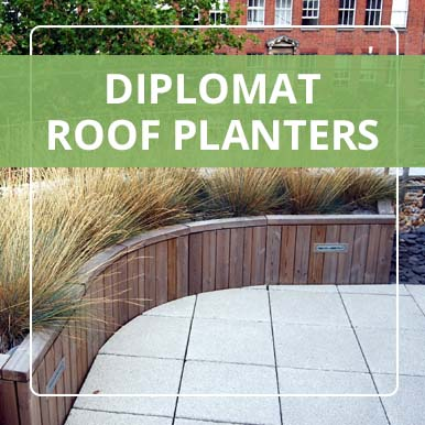 Diplomat Roof Planters by Street Design
