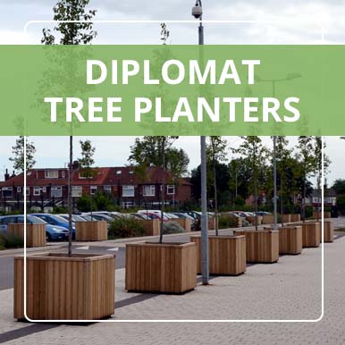 Diplomat Tree Planters by Street Design