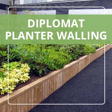 Diplomat Planter Walling by Street Design