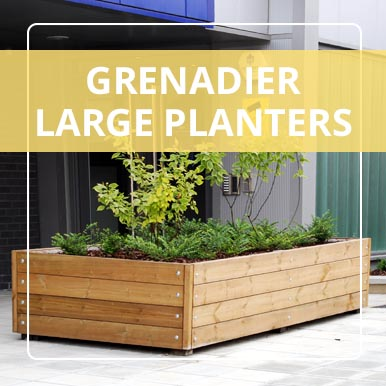 Large Grenadier Planters from Street Design