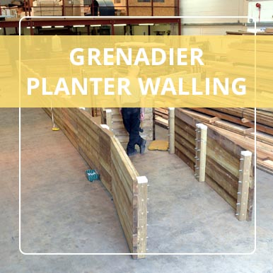 Grenadier Planter Walling from Street Design