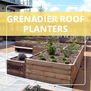 Versatile Grenadier Roof Planters from Street Design