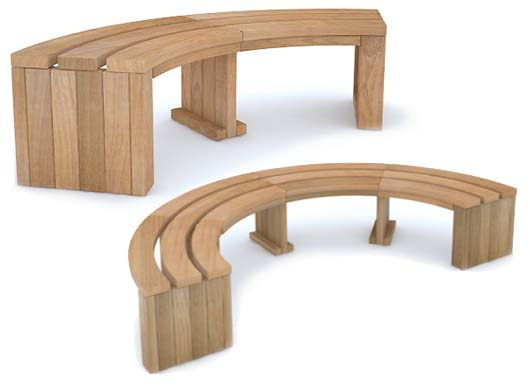 Curved Rochford Benches from Street Design