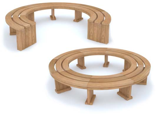 Rochford Curved Benches from Street Design