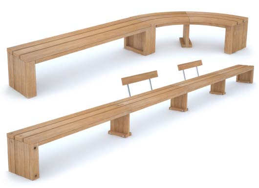 Rochford Bench Combinations by Street Design