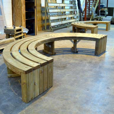 Versatile Rochford Curved Bench Construction
