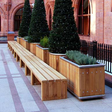 Versatile Rochford Planters and Benches by Street Design