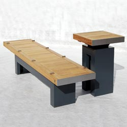 Sheldon Bench & Table by Street Design