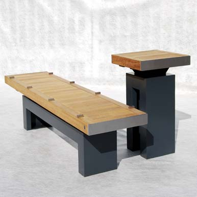 Sheldon Bench Table Combinations by Street Design