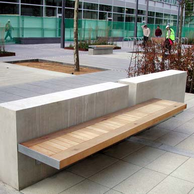 Sheldon Wall Mounted Benches by Street Design