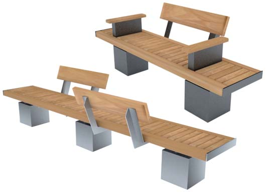 Sheldon Benches for Planters by Street Design