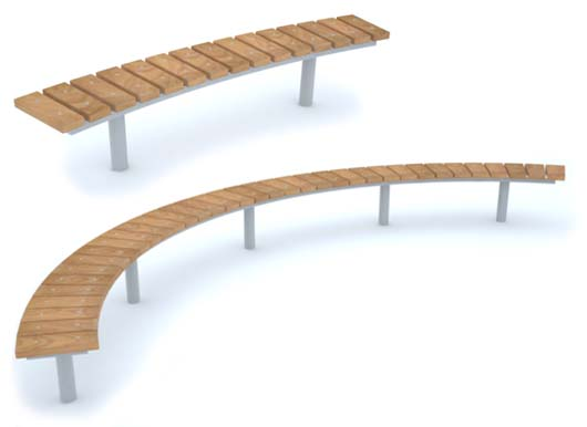 Versatile Spalding Curved Benches from Street Design