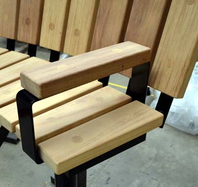 Spalding Bench Showing Recessed Fittings
