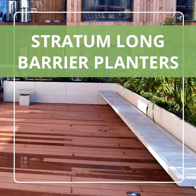Stratum Long Barrier Planters by Street Design