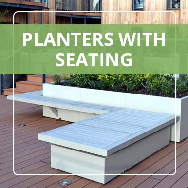Stratum Planters with Seating by Street Design